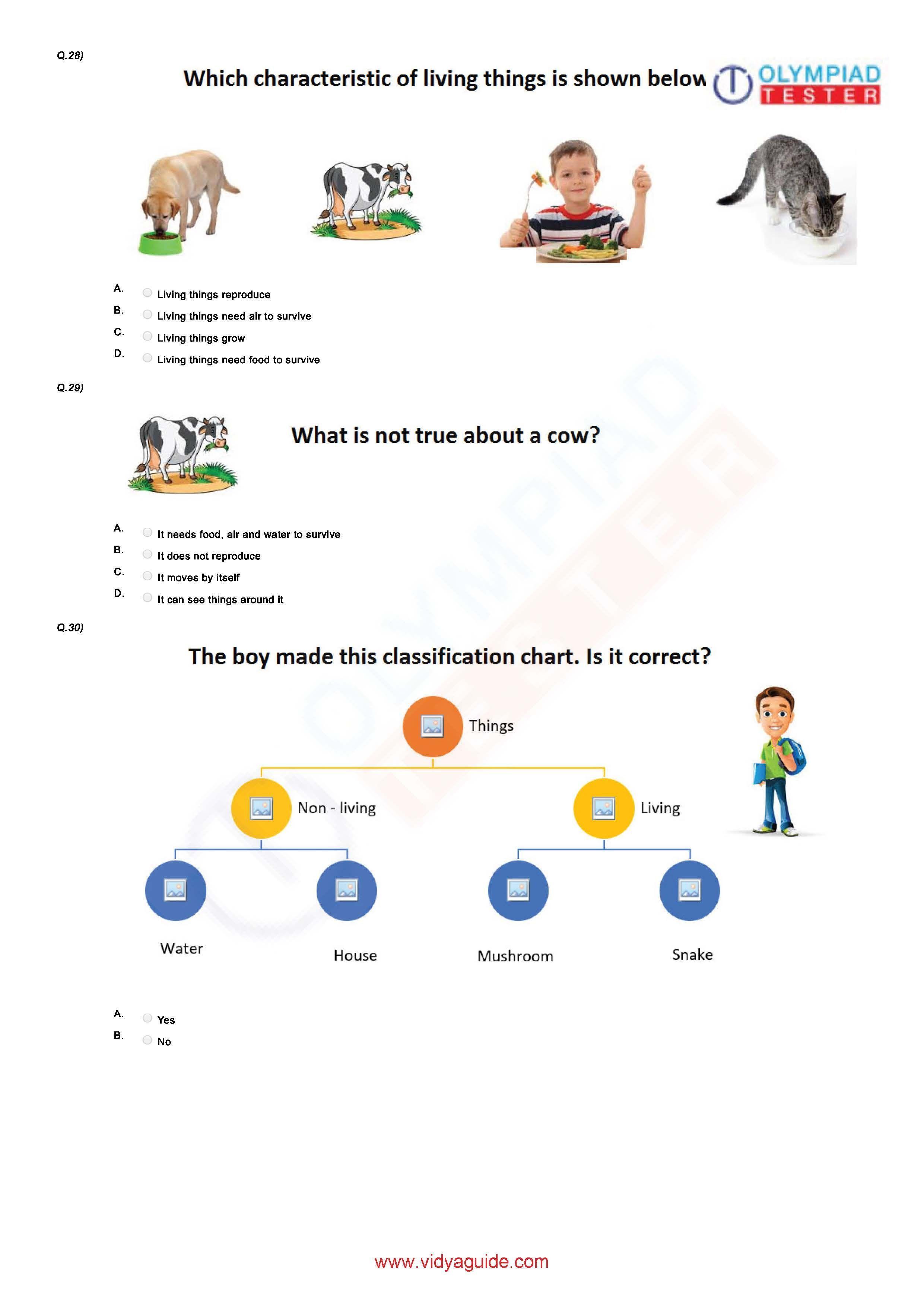 Download Free Grade 1 Science Printable Worksheets Or Take