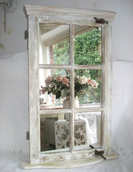 old window mirror pinterest alte fenster fenster und fensterrahmen. Black Bedroom Furniture Sets. Home Design Ideas