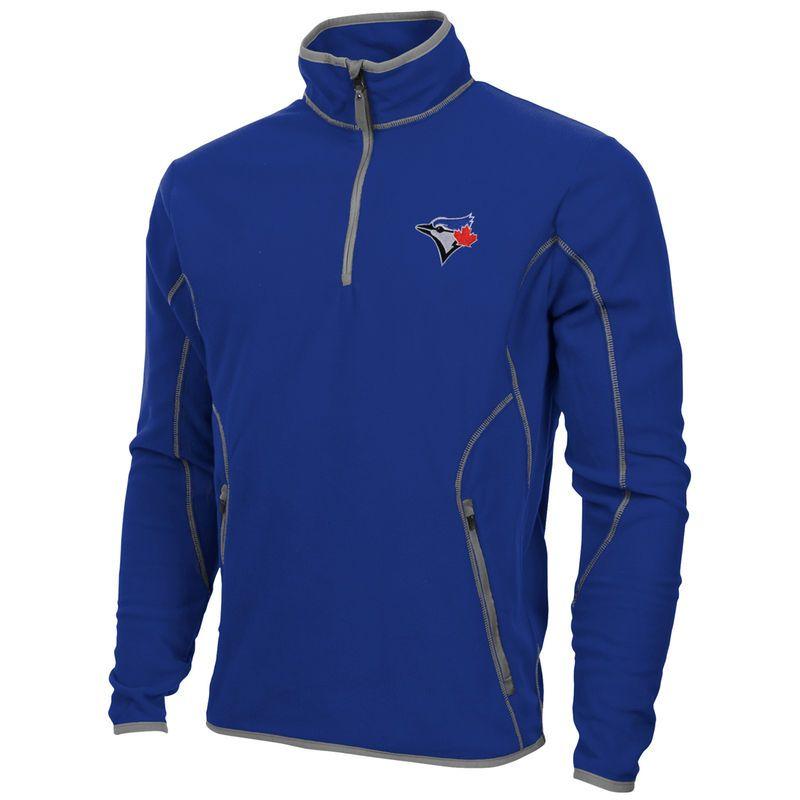 Antigua Toronto Blue Jays Ice Polar Fleece Quarter Zip Pullover Jacket -  Royal Blue