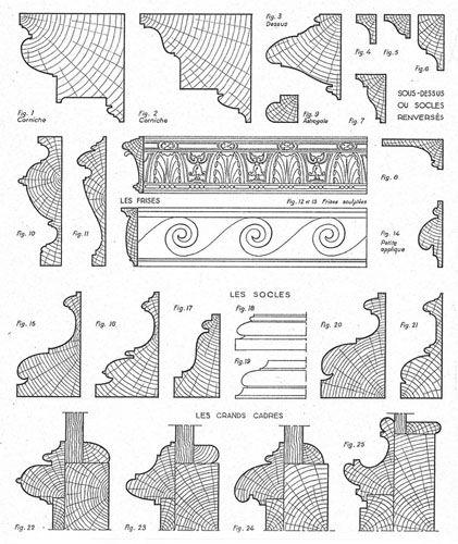 Profiles of Louis XIII moldings architecture Pinterest