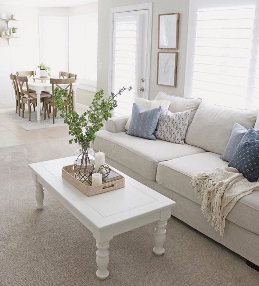Casual Contemporary Oatmeal Sofa - Renegade  Small living room