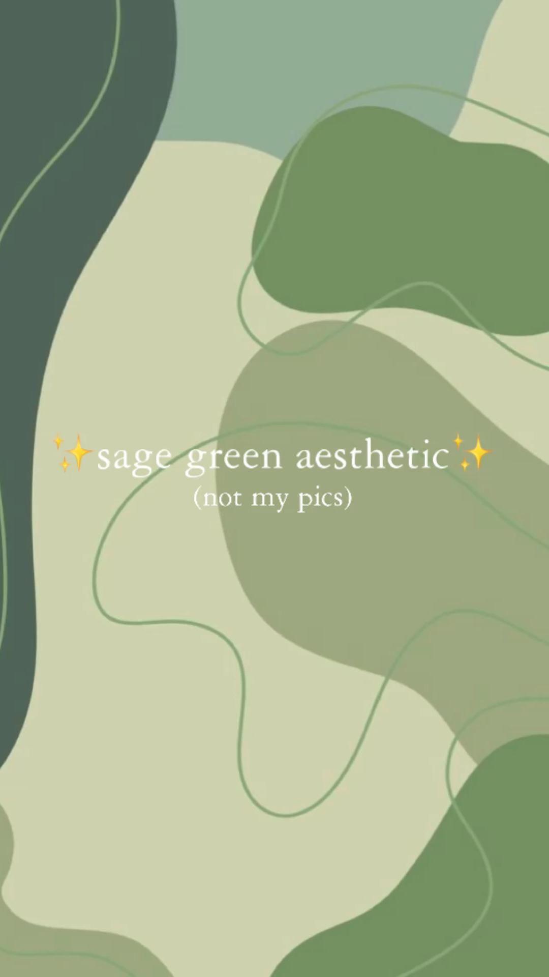 ✨🌱Sage green aesthetic🌱✨