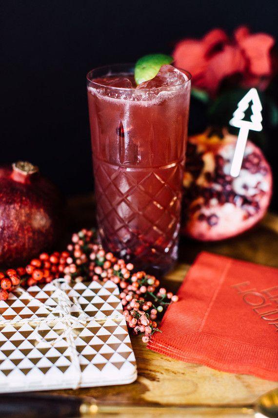 Holiday Cocktail recipe, The Roc Shop, Christmas Tree Stir Stick ...