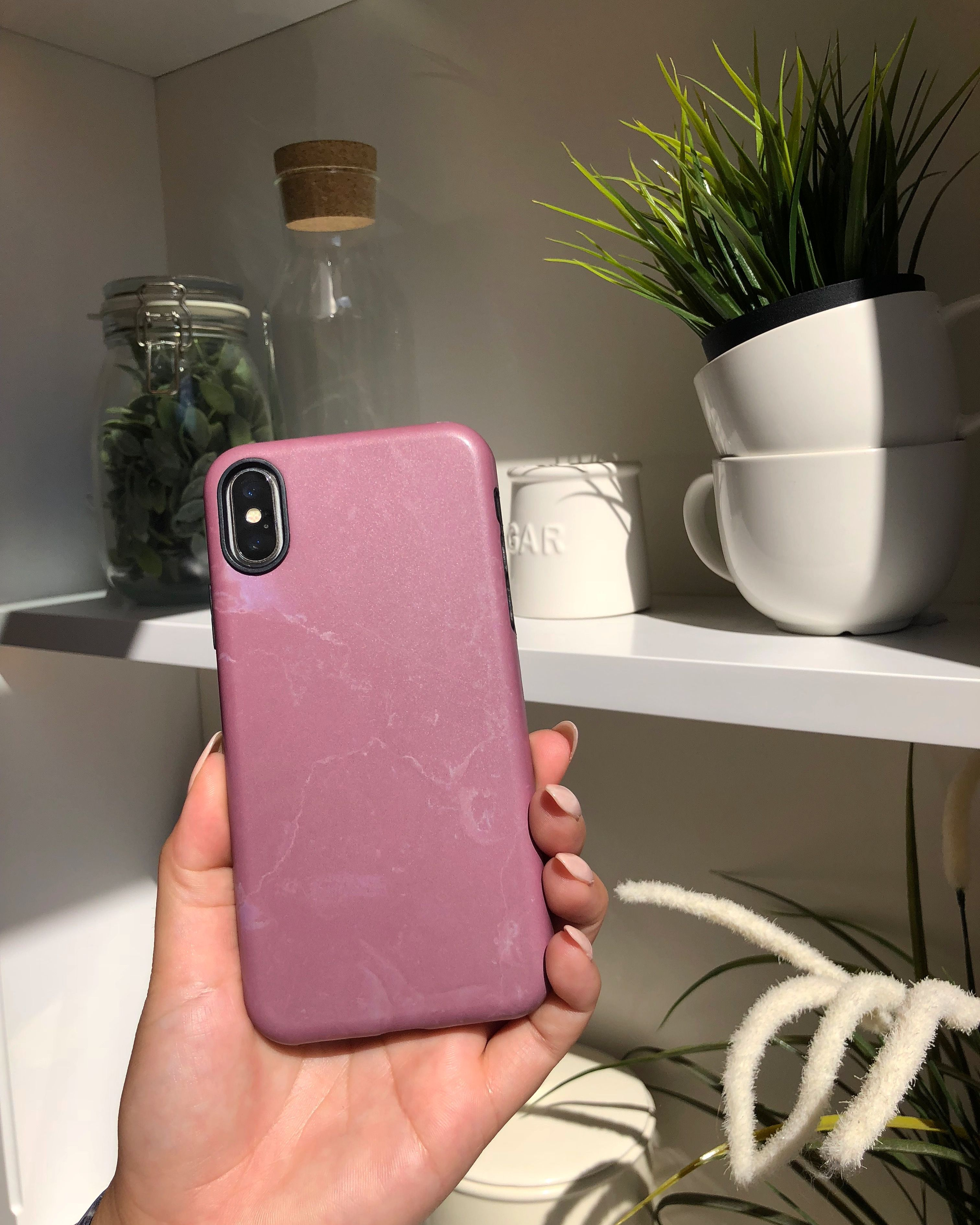 separation shoes cfc94 f8195 Aesthetic ⚪️💕⚪️ Blush Marble Case for iPhone X, iPhone 8 Plus ...