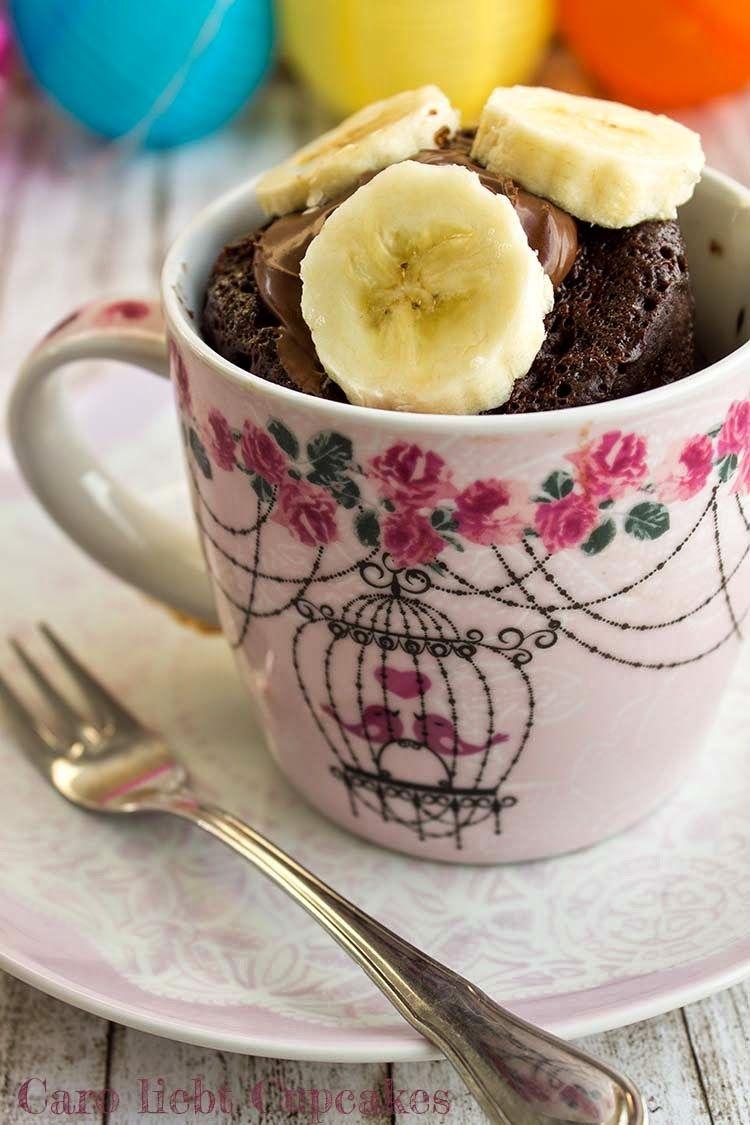Nutella Tassenkuchen Mit Banane Rezepte Pinterest Kuchen