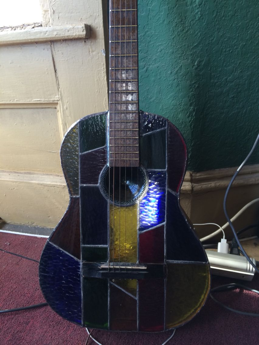 Stained Glass Guitar Stained Glass By Analuisa Arias Stained Glass Crafts Stained Glass