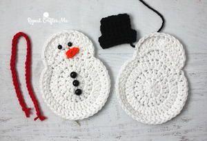 Crochet Snowman Christmas Ornament