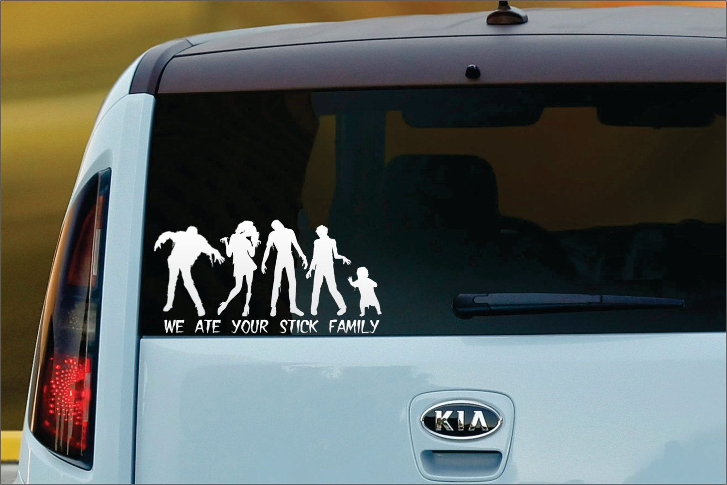 We Ate Your Stick Family CUSTOM Vinyl Window Decal By TheInkWall - Custom window decals car