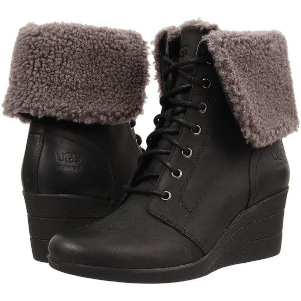 Womens Boots UGG Zea Black Leather