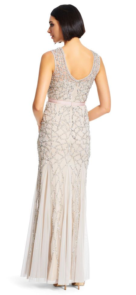 Adrianna Papell | Sleeveless Beaded Gown | dressup♥ | Pinterest ...