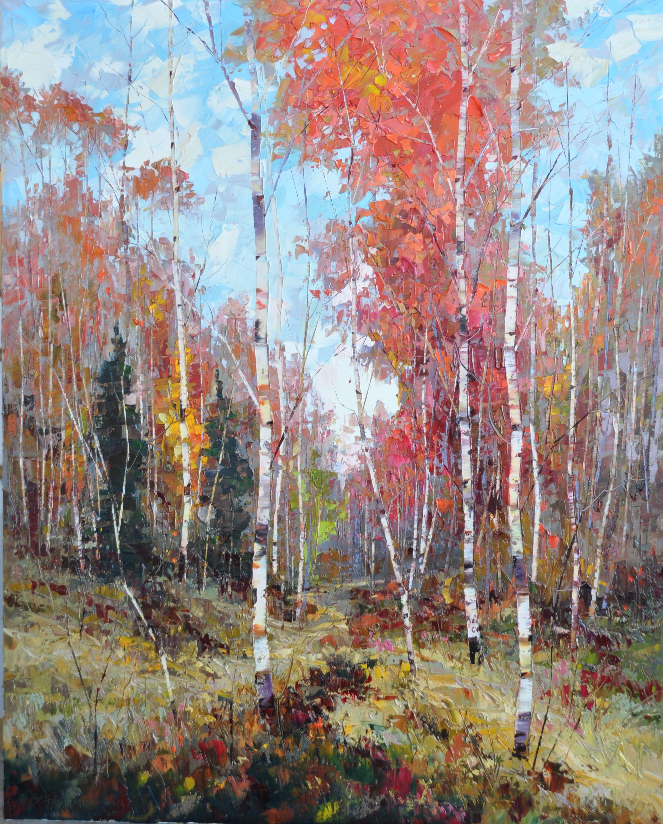 Fall Splendor 60 X 48 Oil Canvas Dean Bradshaw