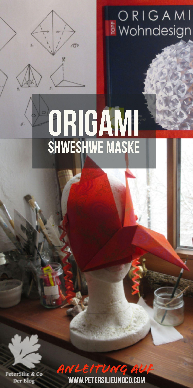 Vögel als Inspiration OrigamiMaske aus ShweShwe Stoff