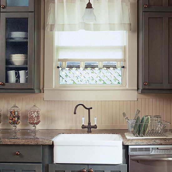 Beadboard Backsplash Trim Along The Counter Can Extend Into The