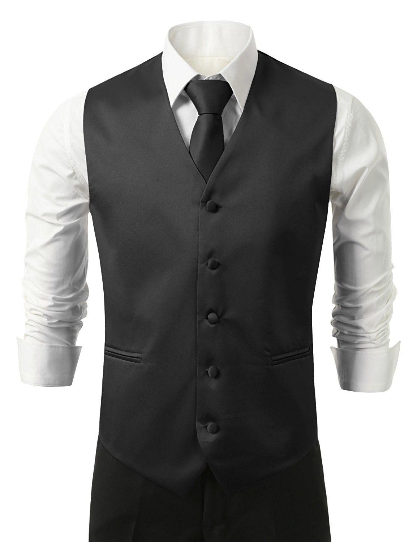 3pc Men S Dress Vest Necktie Pocket Square Set For Suit Or Tuxedo Black Cd11e5c7ue5 In 2020 Mens Black Dress Vest Mens Dress Vests Mens Black Dress [ 1500 x 1154 Pixel ]