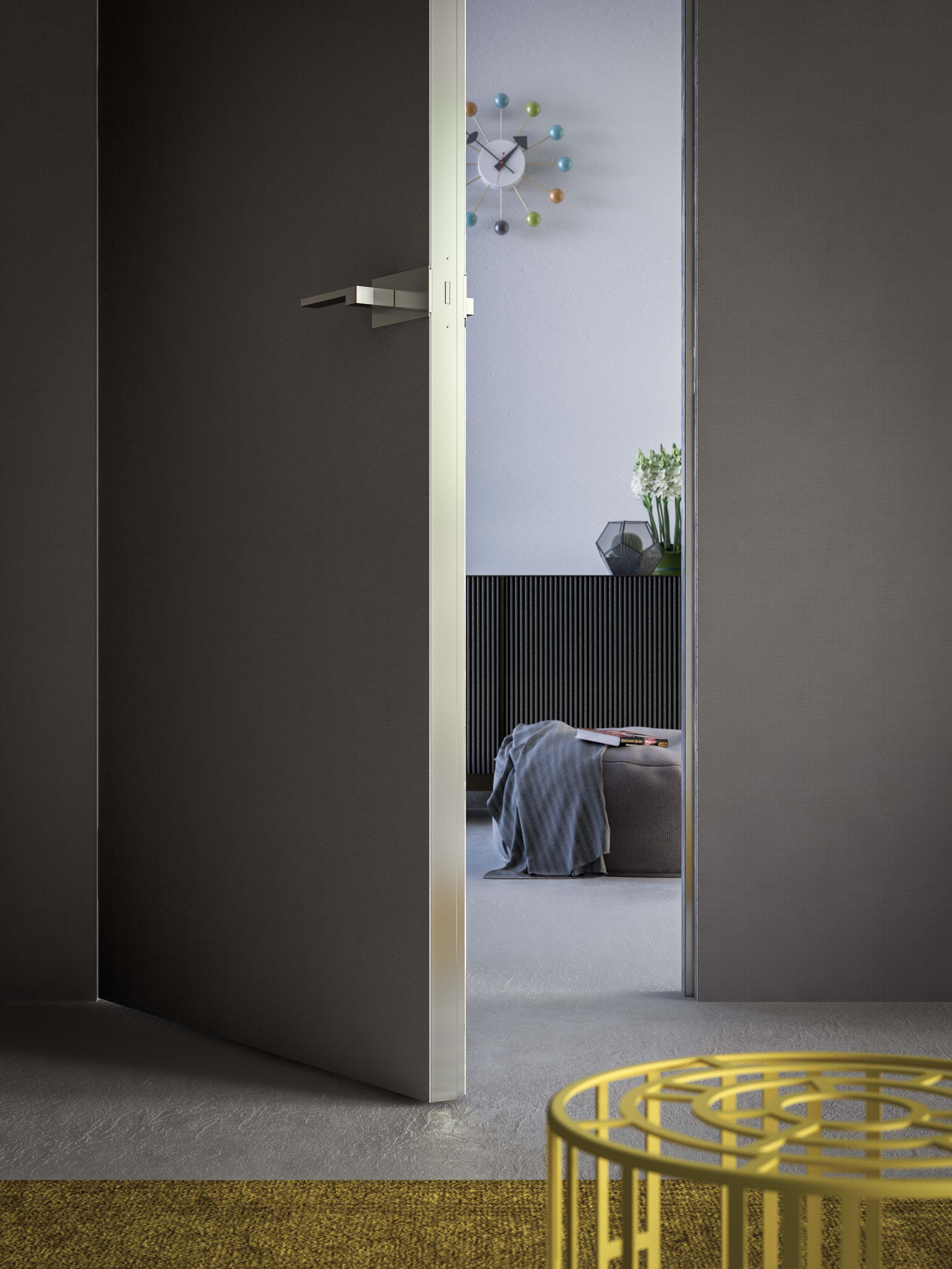 Porte Filo Muro Specchio filomuro door laminam edition (with images) | doors interior