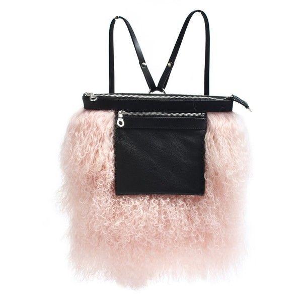Alisa Smirnova London Pink Mongolian Fur Backpack 1 650 Sar Liked On Polyvore Featuring Bags Backpacks Knapsack