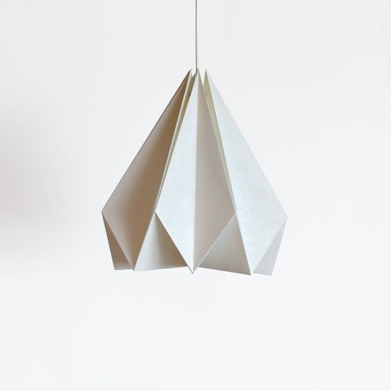 Photo of Brownfolds white paper origami lamp shade; Vanilla Bliss single pack