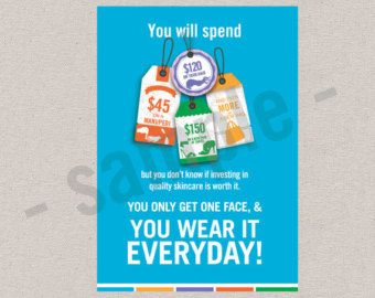 you wear it everyday  flyer  postcard  editable digital file  skincare  Rodan and Fields inspired  INSTANT DOWNLOAD