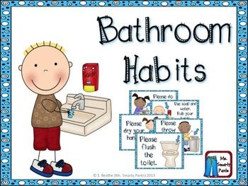 Bathroom Signs For Kindergarten this set of free printable bathroom signs is perfect for the