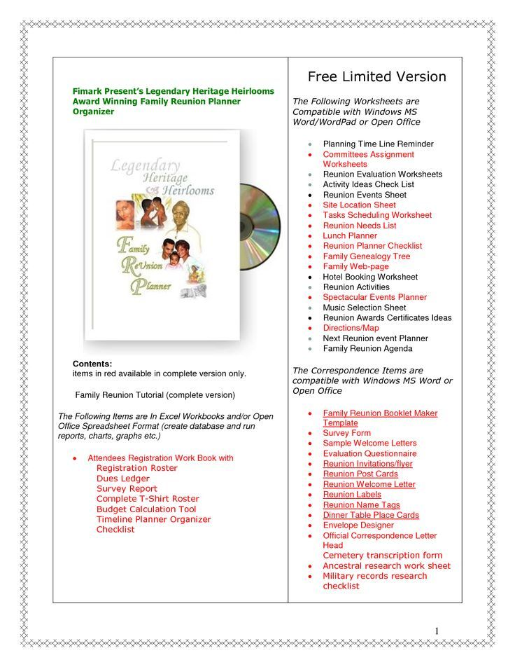 family reunion ideas free family reunion planner family reunion