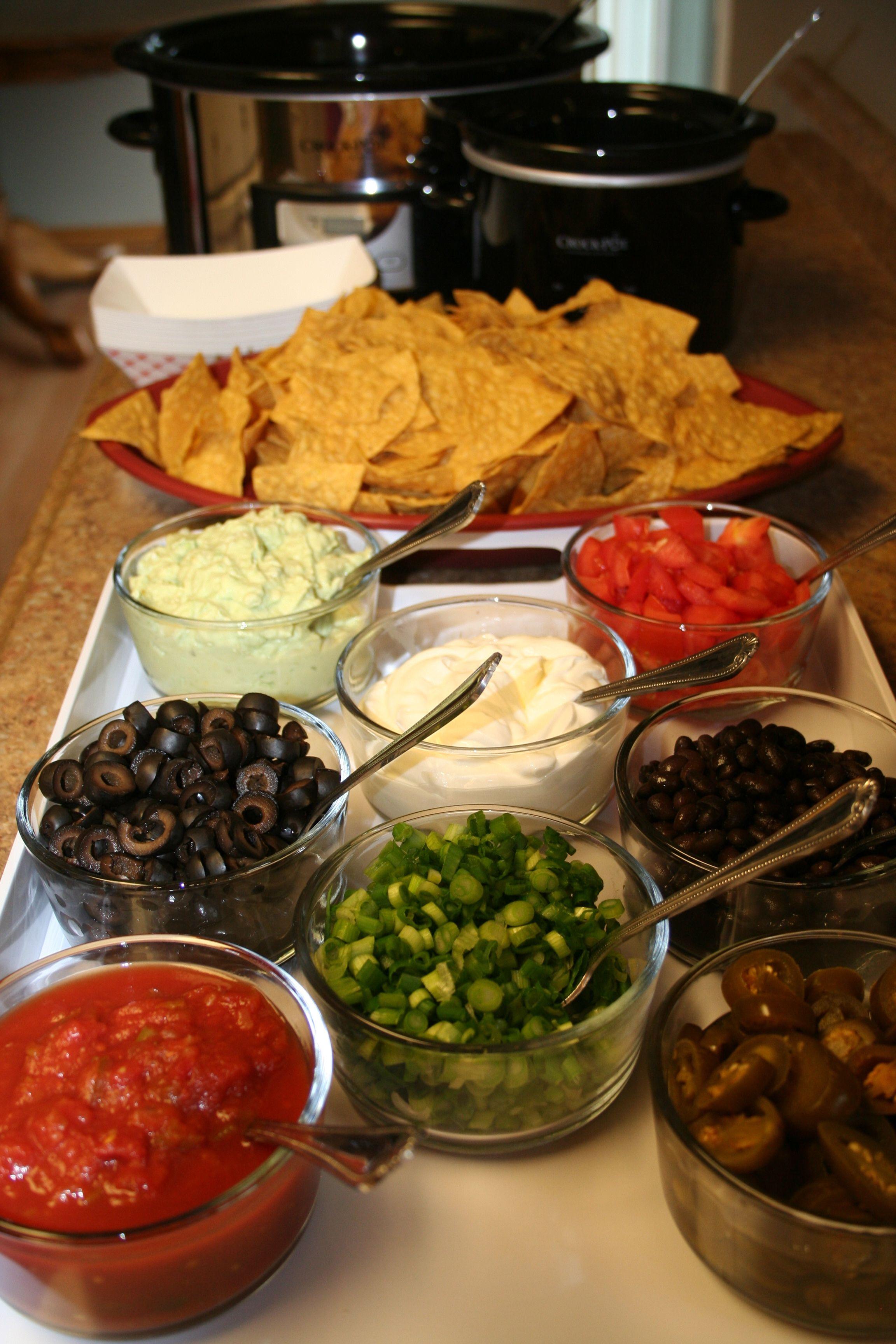 Image result for super bowl nacho bar