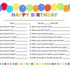 Ask your child these same 20 questions on their birthday each year.  A sweet and funny memory to have!  Could be used in the classroom on students ...