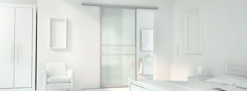 Glasschiebetür nach Maß zur Trennung von Schlaf- und Badezimmer ...