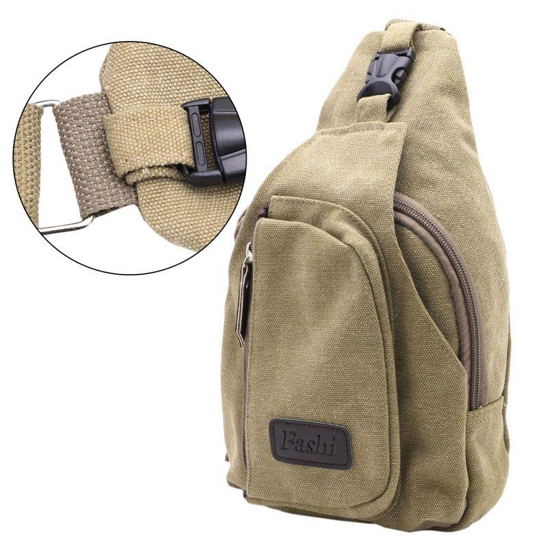 1pc Men Tactical Sling Chest Bag Pack Messenger Shoulder Bag