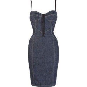 bd2043ebe3 Guess Denim Corset Dress