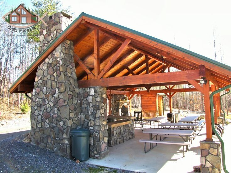 Outdoor Heavy Timber Pavilion With Full Kitchen And