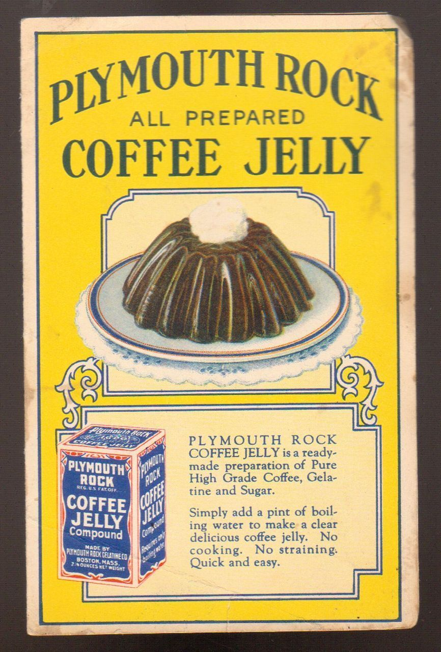 Advintage Plus - Undated Advertising Brochure Plymouth Rock Coffee Jelly, $9.00 (http://www.advintageplus.com/undated-advertising-brochure-plymouth-rock-coffee-jelly/)