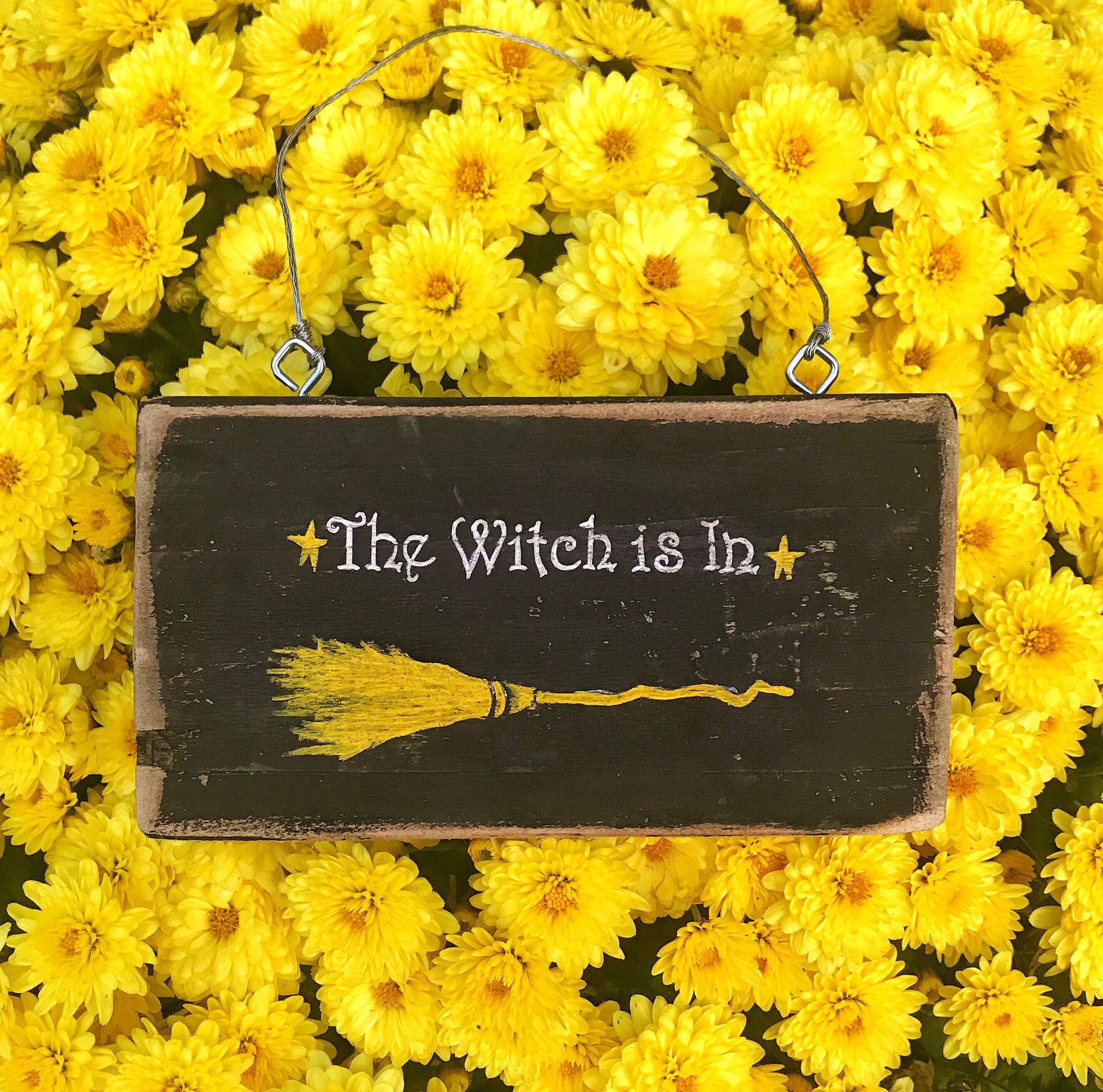 Halloween Decor-Witch decor-Halloween witch decor-Halloween sign ...