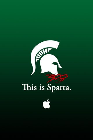 This Is Sparta Michigan State 300 Iphone Wallpaper Michigan State Spartans Logo Michigan State Football Michigan State