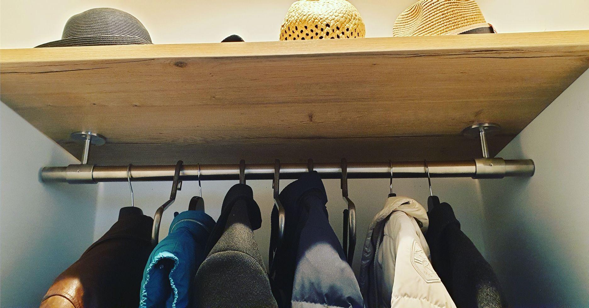 V2a Kleiderstange Regalmontage Garderobe Stange Kleiderstange Garderobenstange