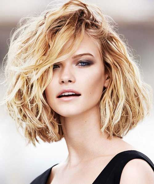 Hairstyles For Short Thick Hair Short Wavy Hairstyles Pinterest
