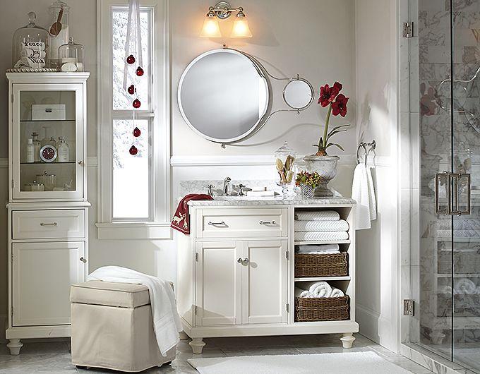 Bathroom Decorating Ideas Single Marble Console