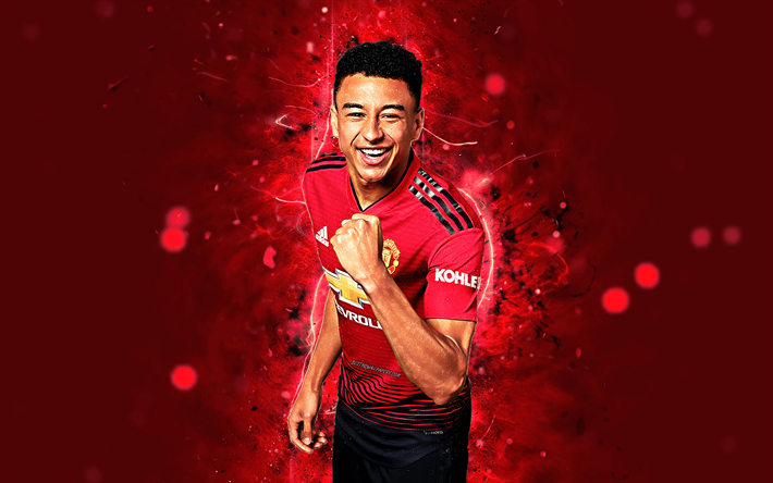 Download Wallpapers Jesse Lingard, 4k, Season 2018-2019