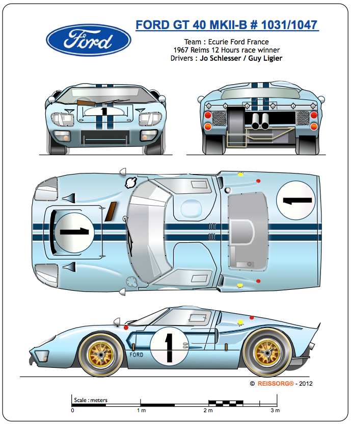 Ford Gt40 Mkii Ford Gt Ford Gt40 Gt Cars