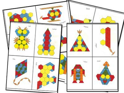 Pattern Block Printables FREE KindergartenKlub Pinterest - pattern block template