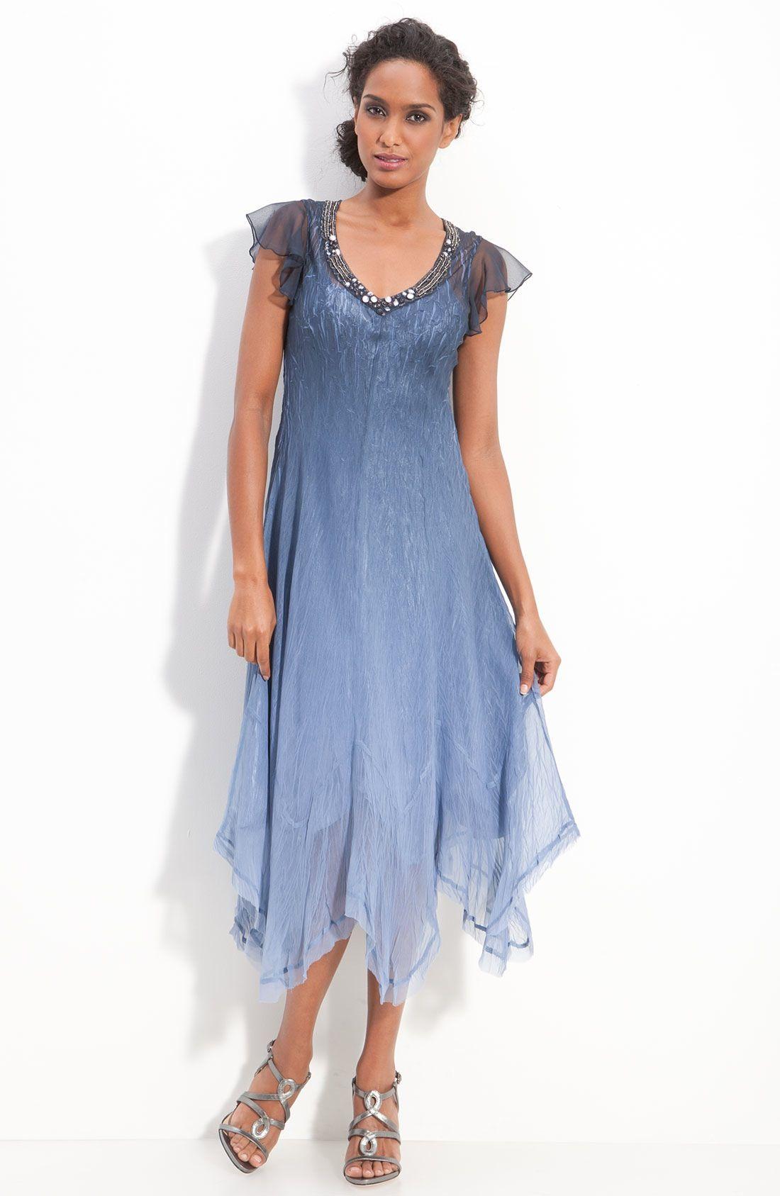 c000712c4d9 Komarov Beaded Chiffon Flutter Sleeve Dress available at  Nordstrom ...