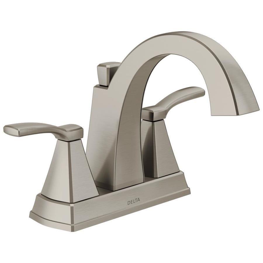 Nickel 4 in. Bathroom Sink Faucets