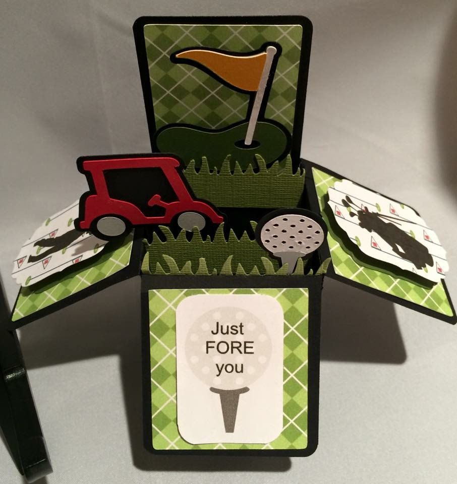 Custom Golf Themed Card Pop Up Card Greeting Card 3d Pop Up