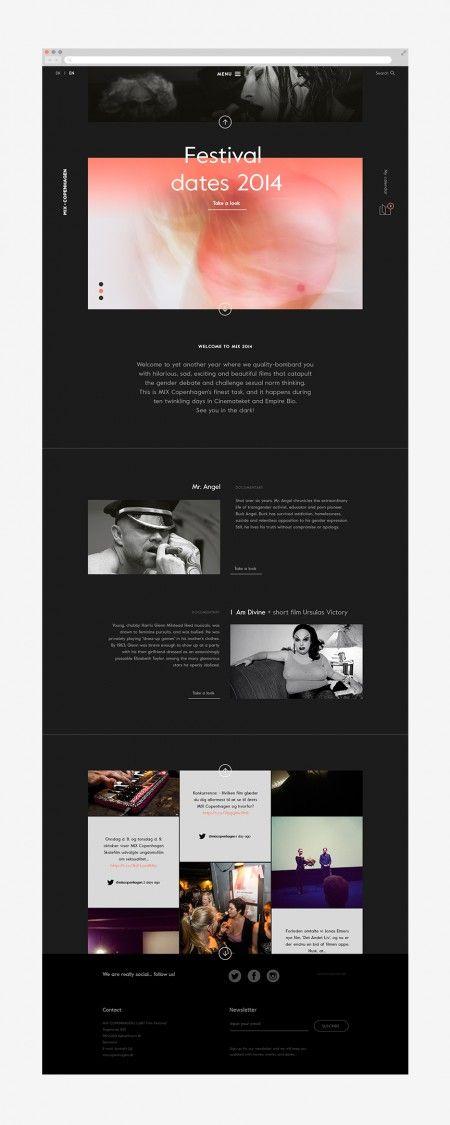 Mix Copenhagen By Your Local Studio Incredible Types Simple Website Design Web Design Festival Design
