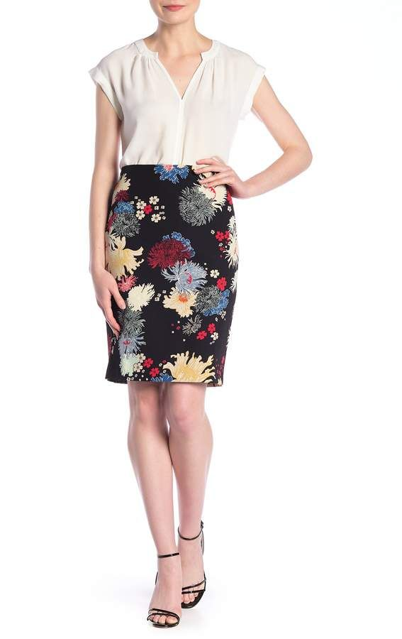 Philosophy Apparel | Printed Midi Skirt (Petite) | HauteLook