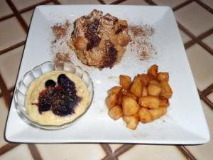 Cinnamon Bread Pudding Surprise with Caramelized Apples Recipe