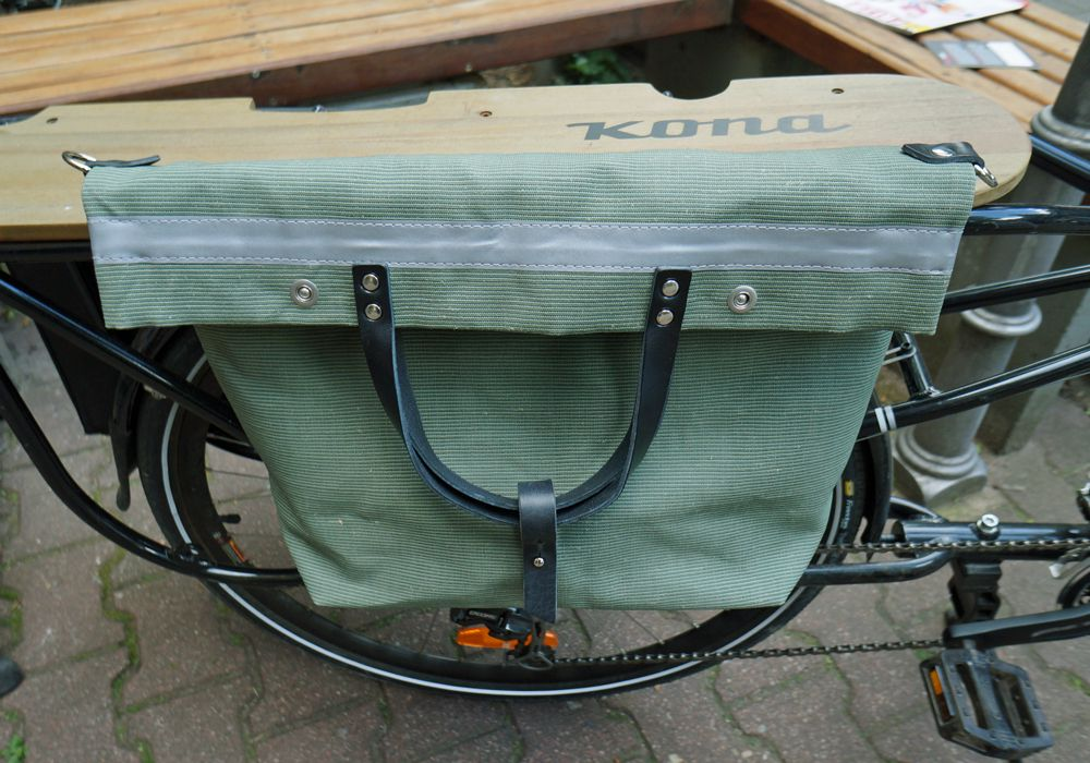 Hack Lederware Fahrradtasche T115 Heavy Canvas Meets Function