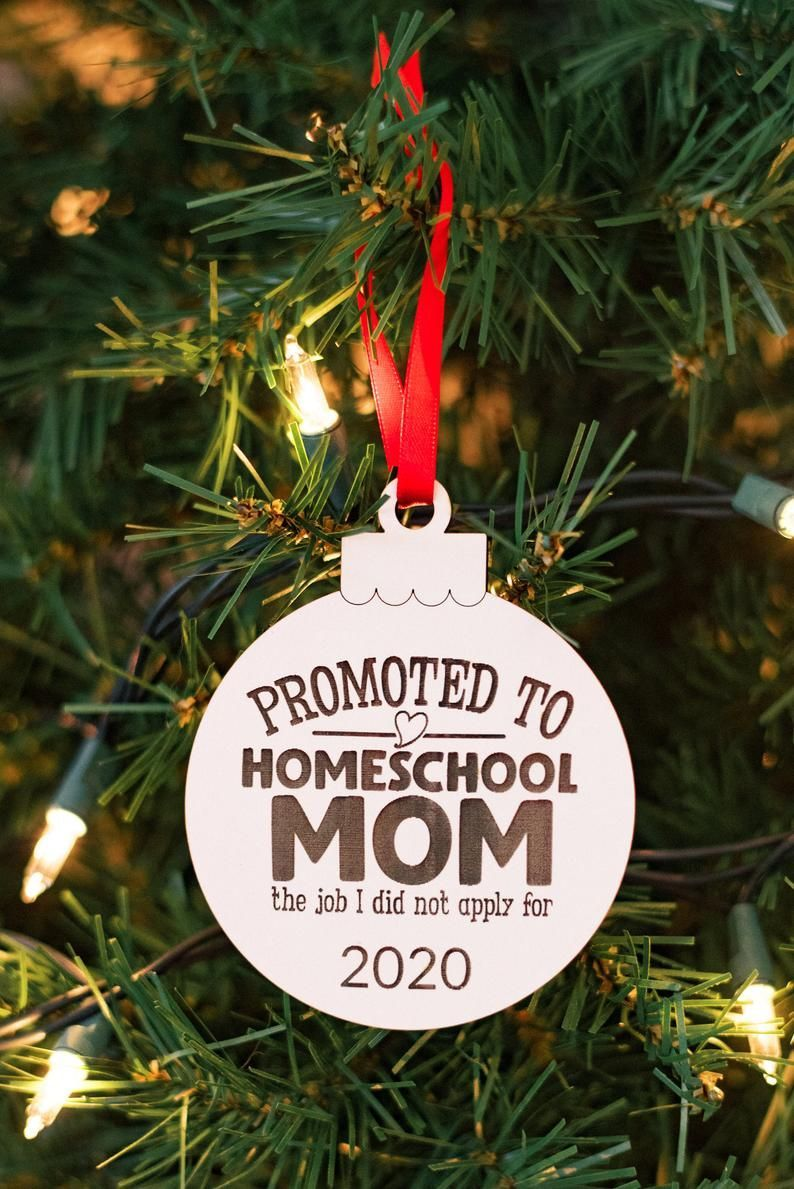 2020 Homeschool Mom Ornament 2020 Christmas Ornament White