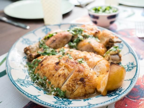 Roasted lemon chicken with spring onion chimichurri recipe roasted lemon chicken with spring onion chimichurri recipe chimichurri lemon chicken and onions forumfinder Image collections