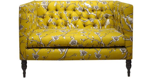 Furniture Consider The Quality For Your Lovely Loveseat Vintage Yellow Fl Print Fabric Tufted Futon Sofa Sleeper