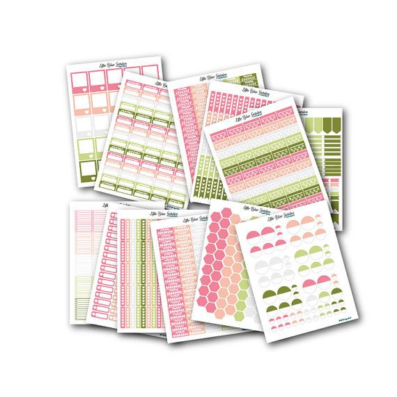 """... 8.5""""x11"""") of this Printable Planner Stickers Bundle This file is easily  printed at home or at your local print shop (Staples, Office Depot, etc."""